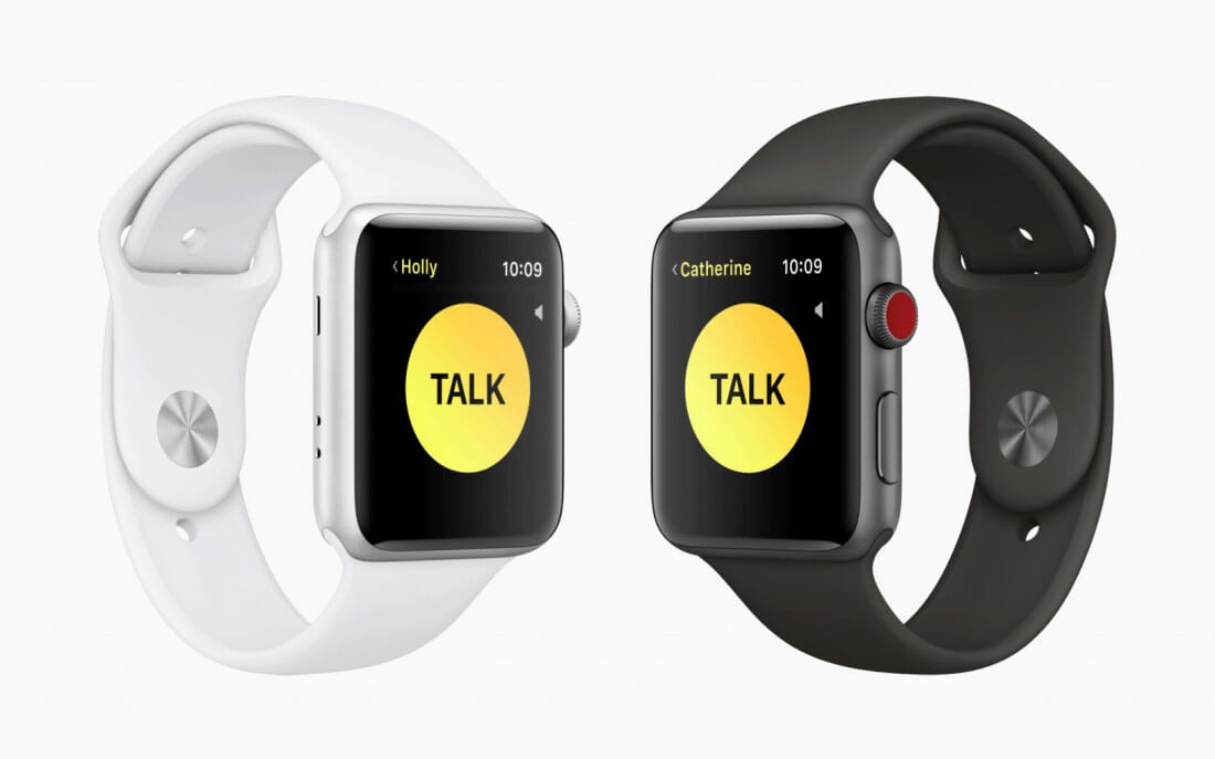 The Apple Watch's upcoming 'Walkie Talkie' app will let you