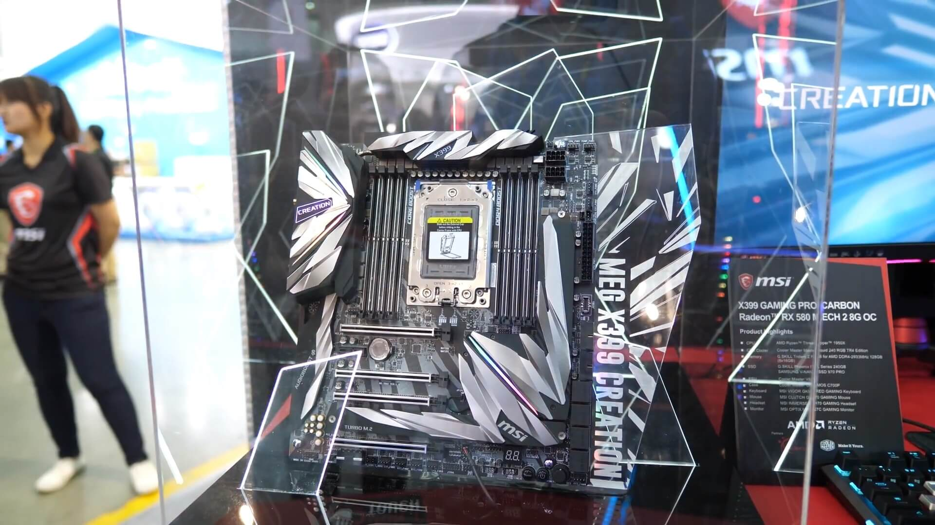 AMD B450 chipset, 2nd-gen Threadripper board spotted at