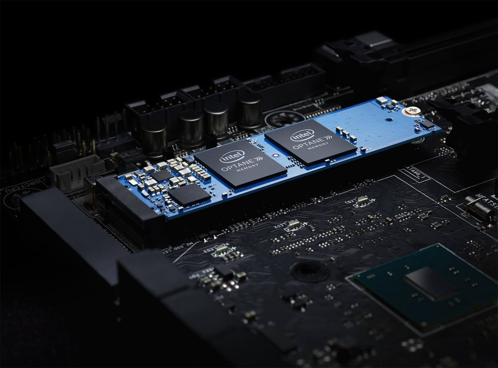 Optane cache drives are not DRAM, but that's not what Intel