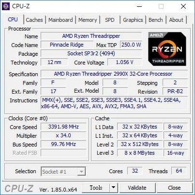 AMD Ryzen Threadripper 2990X CPU-Z Leaks? - Glenn Berry
