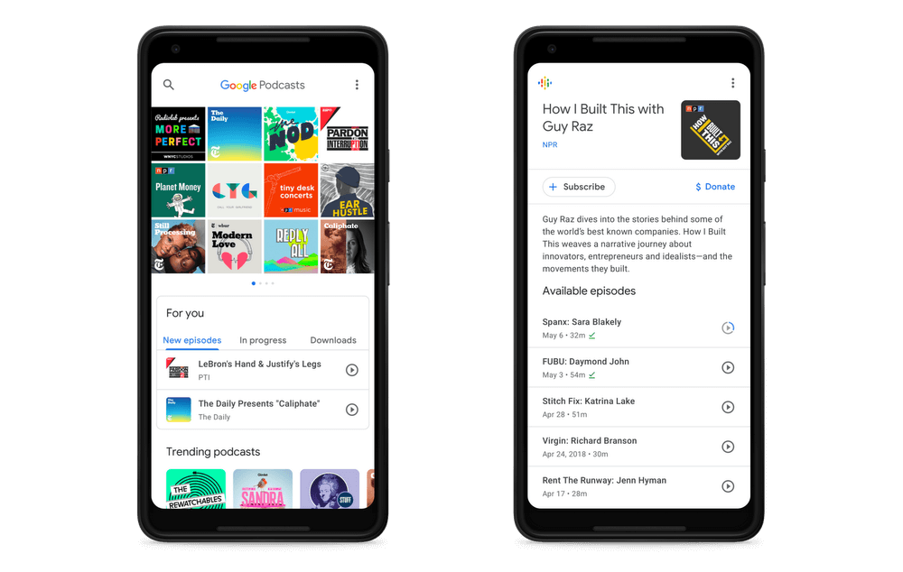 Google Podcasts app finally offers a dedicated means of listening to