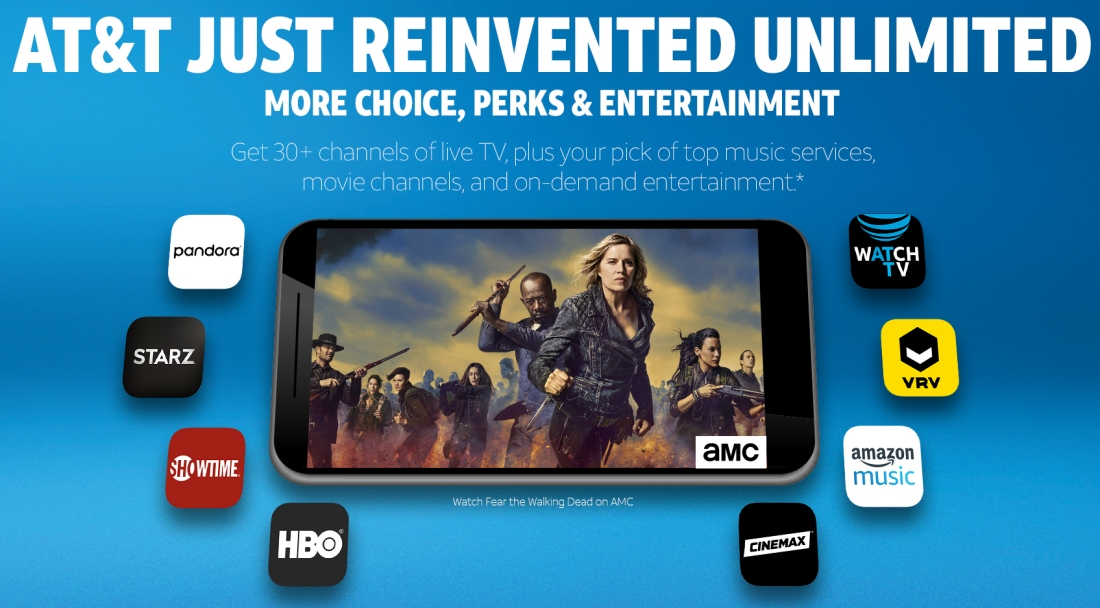 AT&T's latest streaming video service will come bundled with new unlimited wireless plans