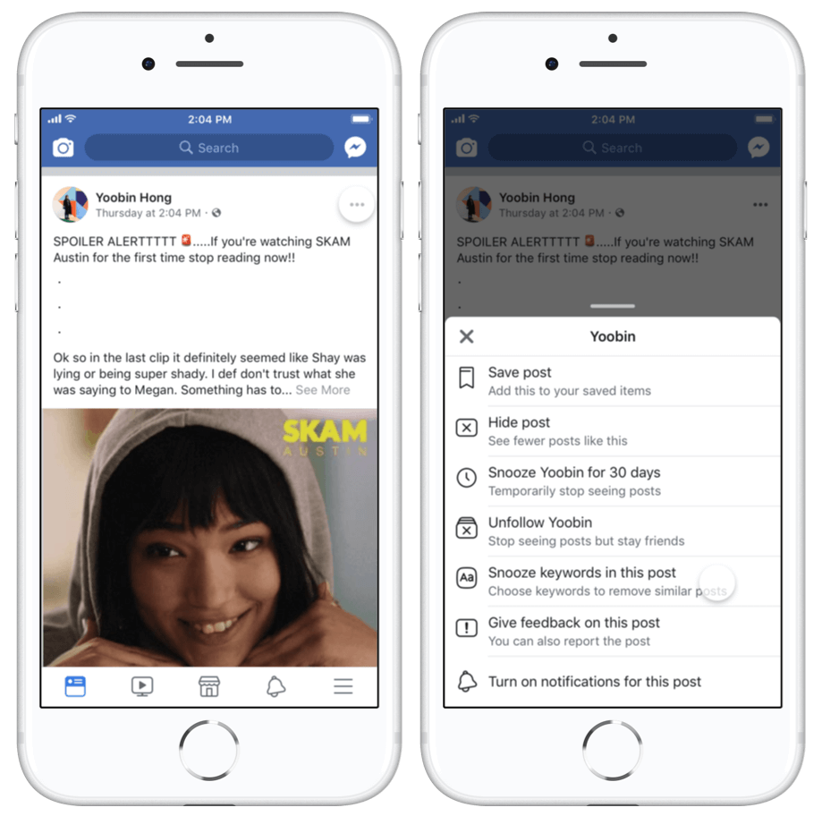Facebook began testing on a feature that allows you to
