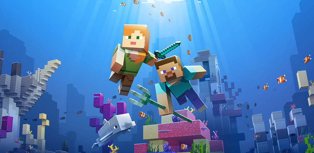 Minecraft's watery Update Aquatic phase two drops anchor
