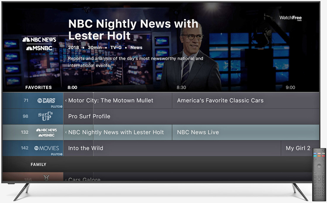 Vizio launches streaming service powered by Pluto TV