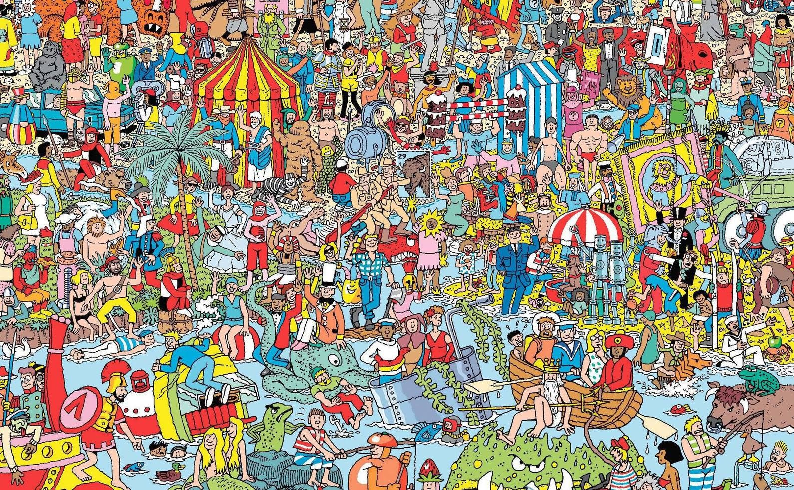 Adorable image in where's waldo printable