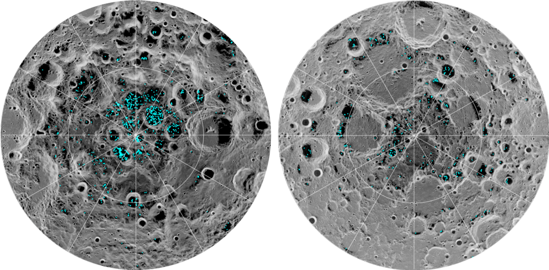 Scientists confirm the existence of water ice on the Moon's surface for the first time