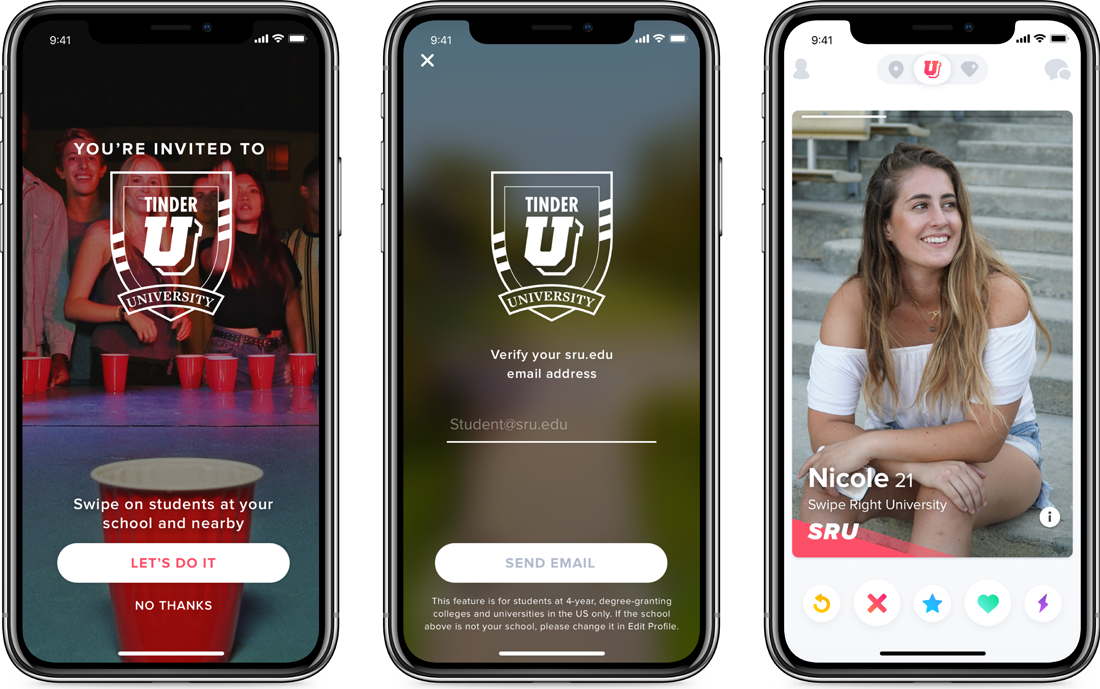 Tinder's latest feature is only for college students
