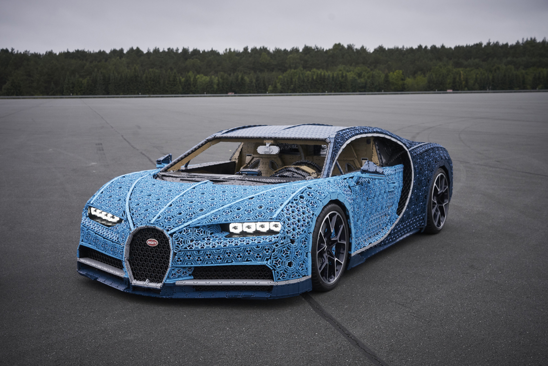 Lego Built A Life Size Drivable Bugatti Chiron Out Of A Million