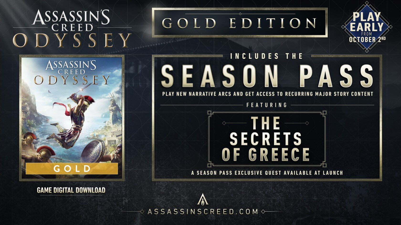 Ubisoft announces post-launch content for Assassin's Creed Odyssey
