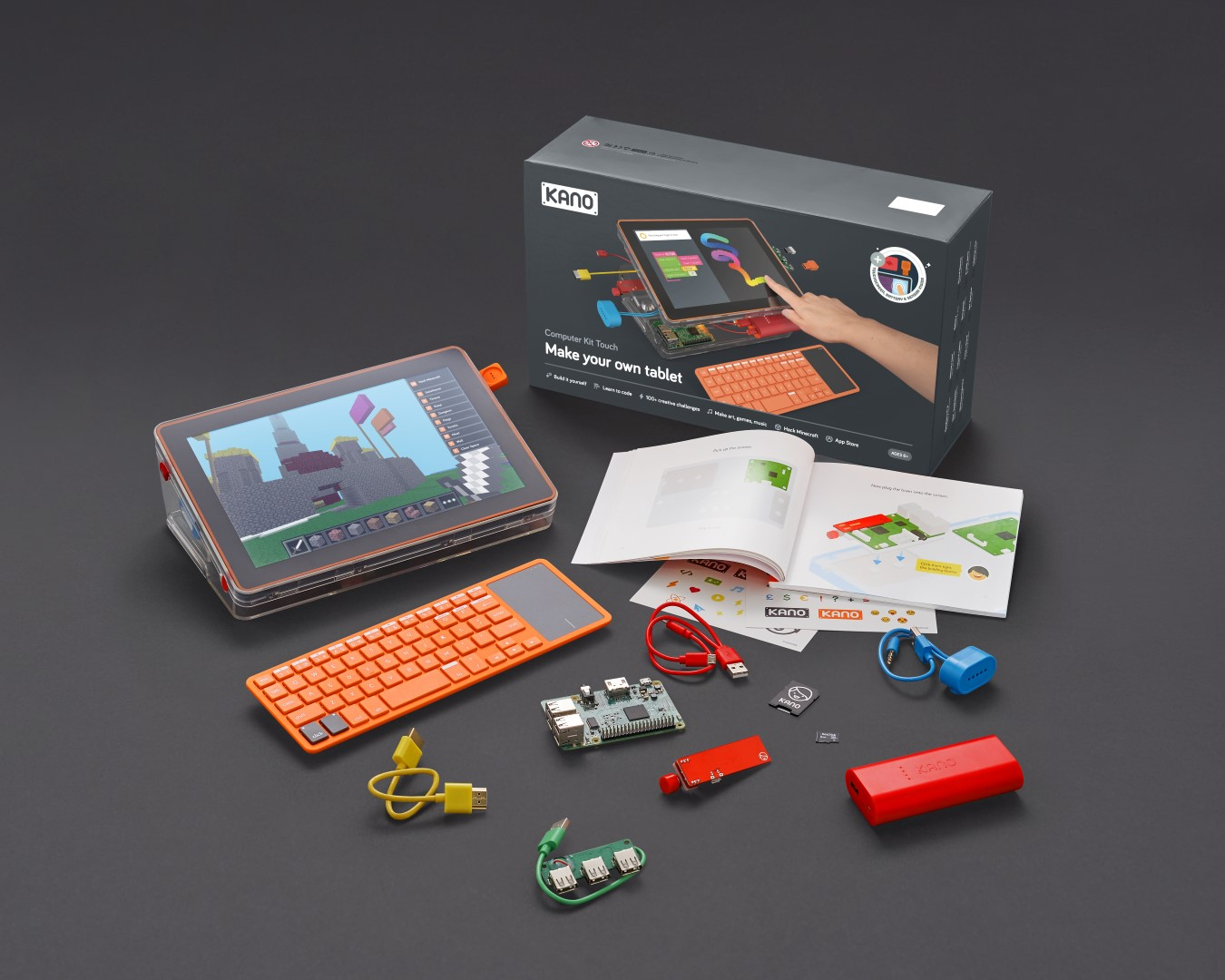 Kano adds a touchscreen to its DIY computer kit, shipping now for $279.99