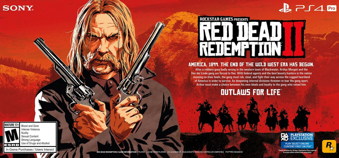 Red Dead Redemption 2 requires 105GB to install on PS4 Pro, supports