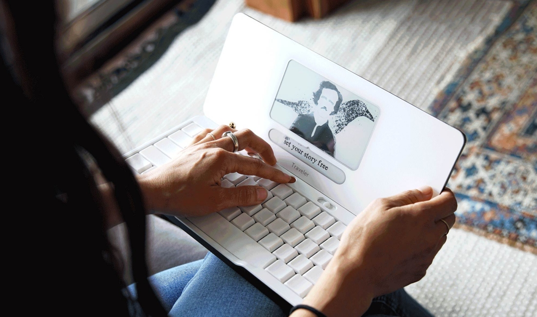 The Freewrite Traveler is a distraction-free writing tool for those who are easily distracted