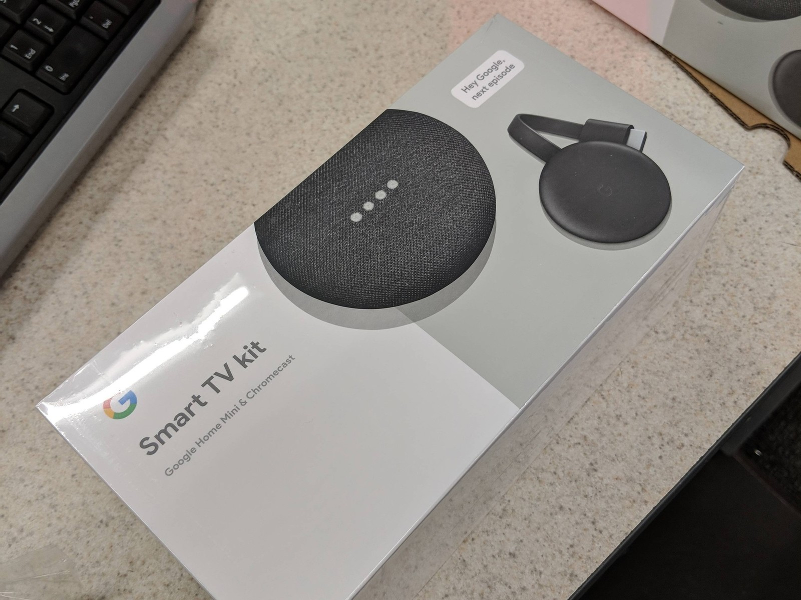 Smart TV kit featuring Google Home Mini and third-gen Chromecast leaks