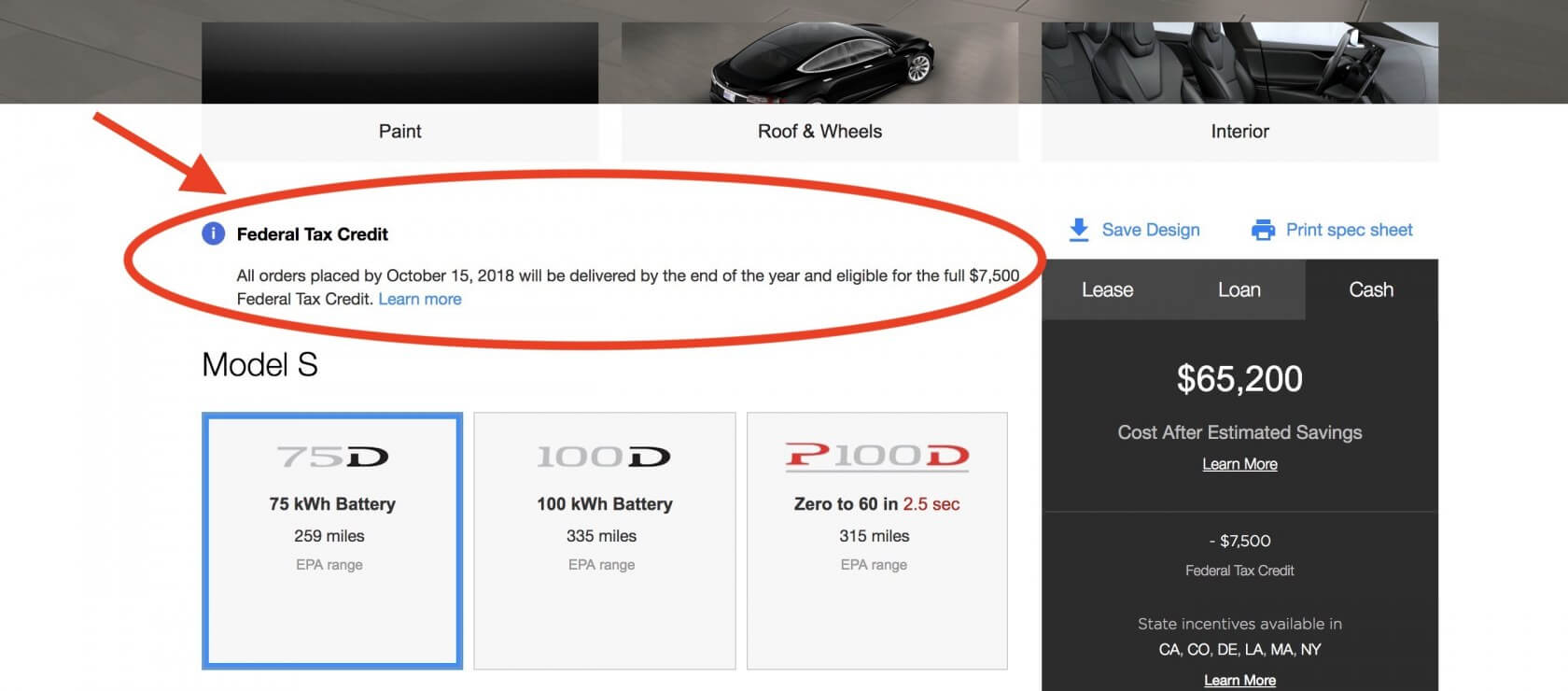 October 15 Is The Deadline To Take Advantage Of Tesla S 7 500