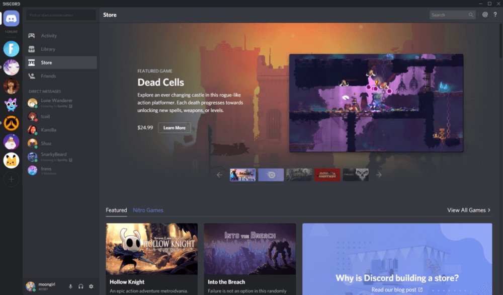 Discord's game store goes public, alongside Nitro