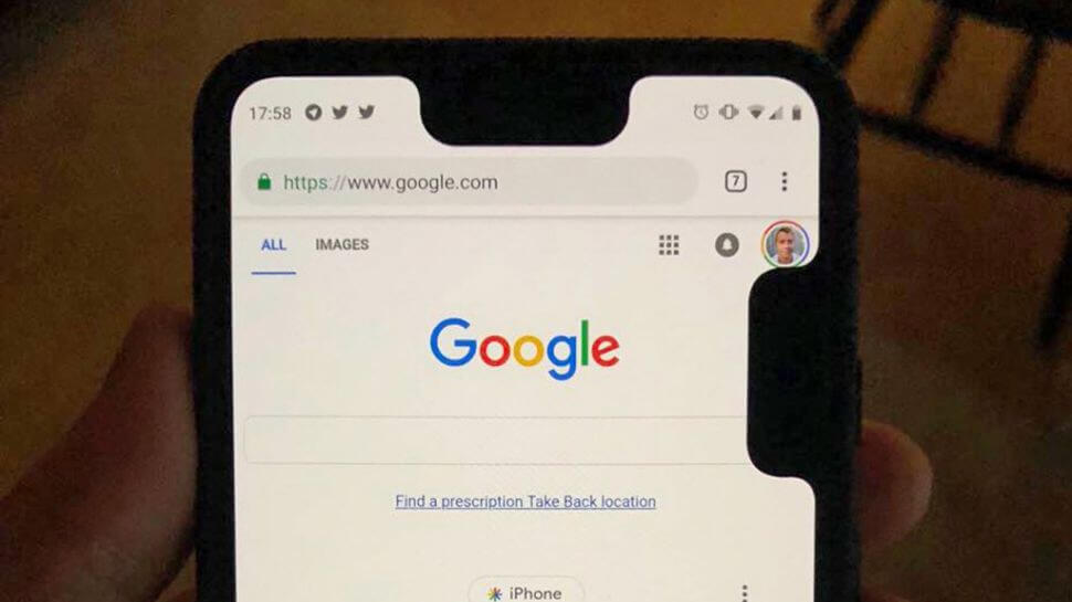 Pixel 3 XL bug adds second notch to screen