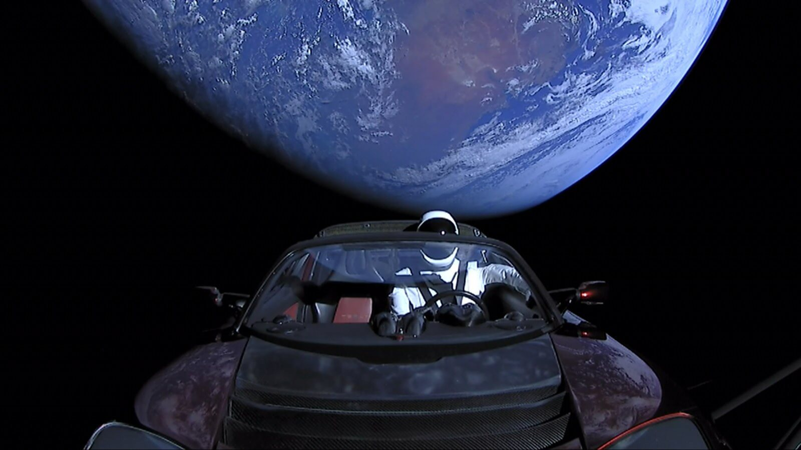 Elon Musk's Tesla Roadster Just Floated Past Mars