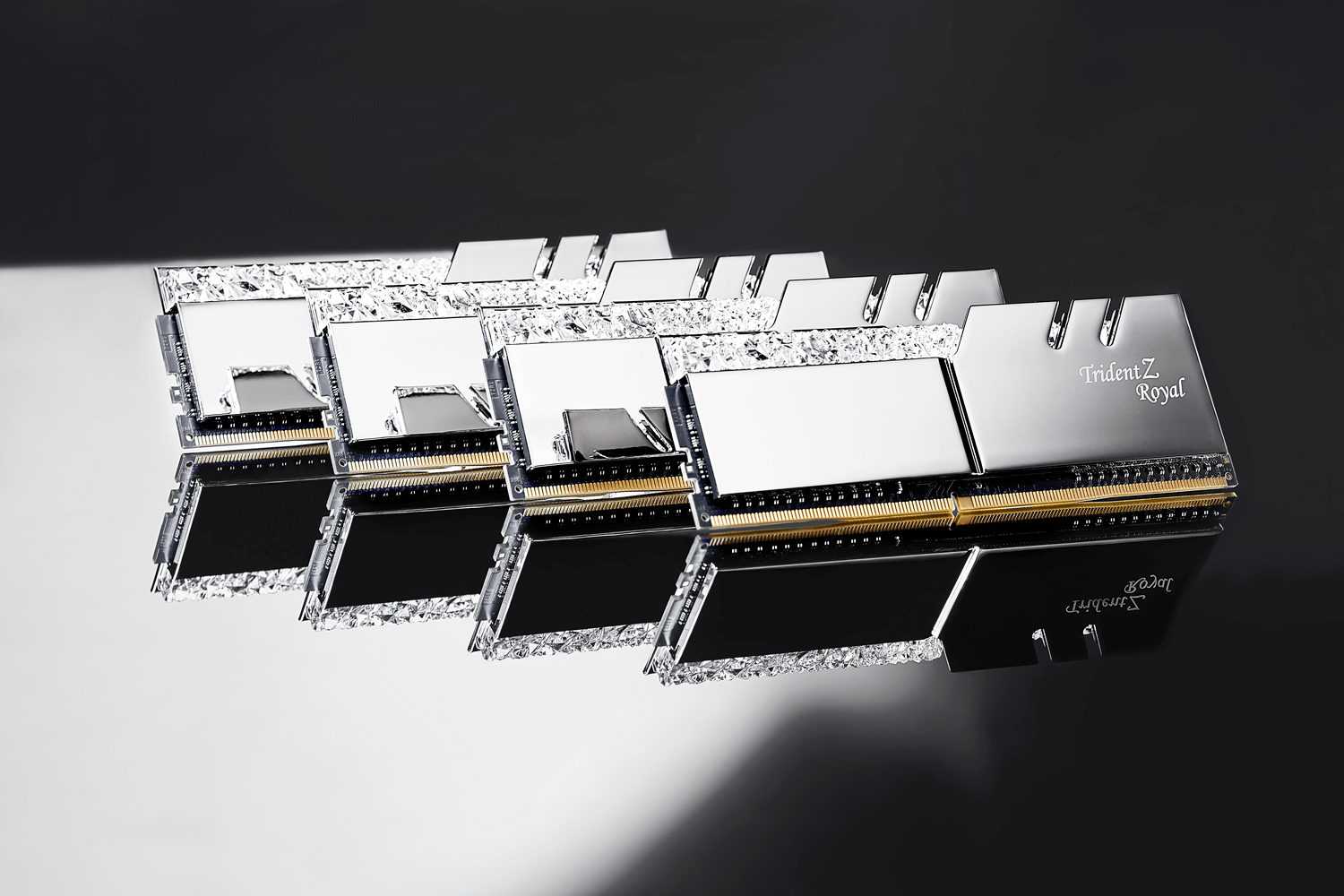G Skill introduces the Trident Z Royal Series with crystals and RGB