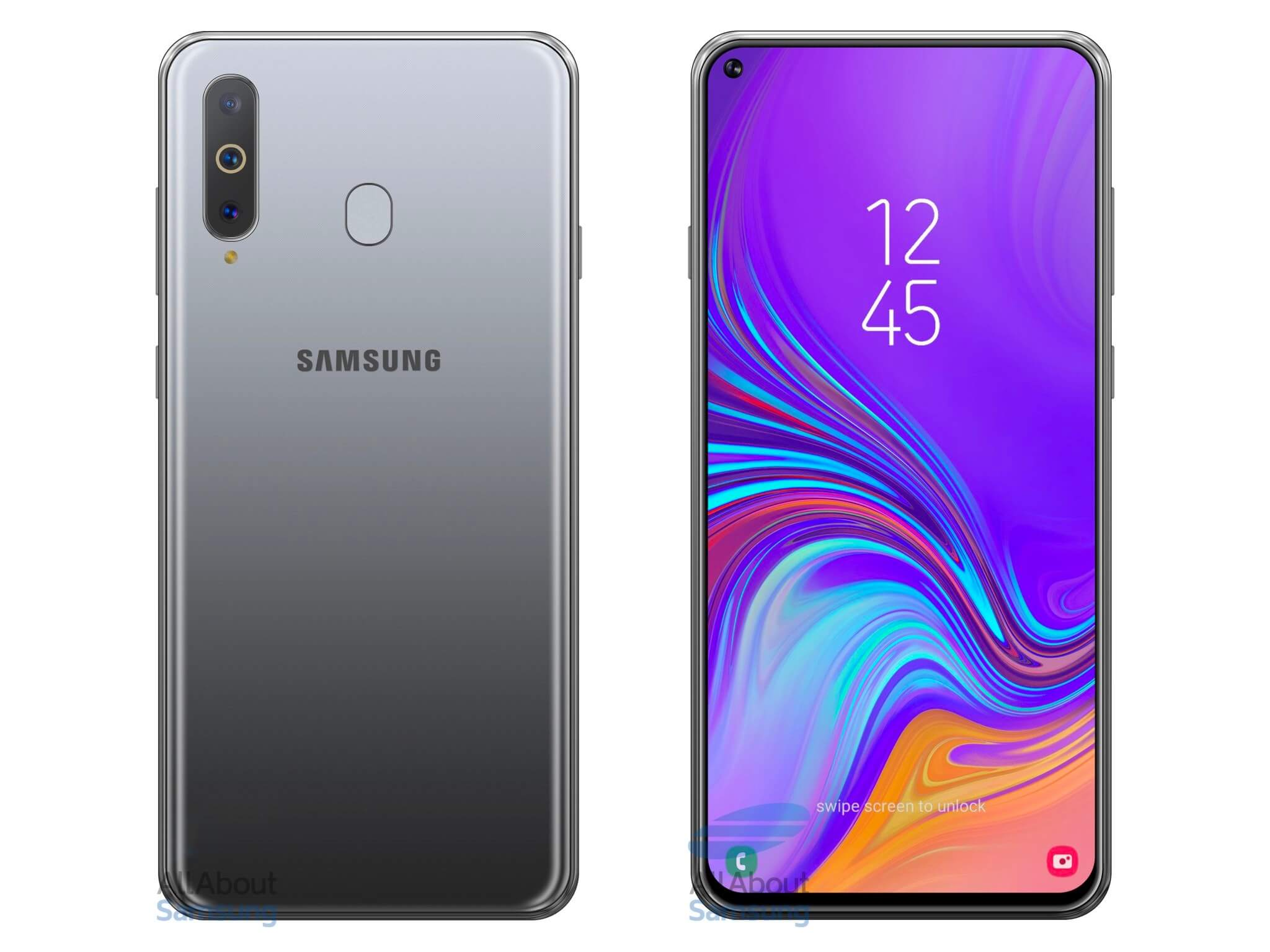 New Galaxy S10 render highlights display hole and triple rear camera