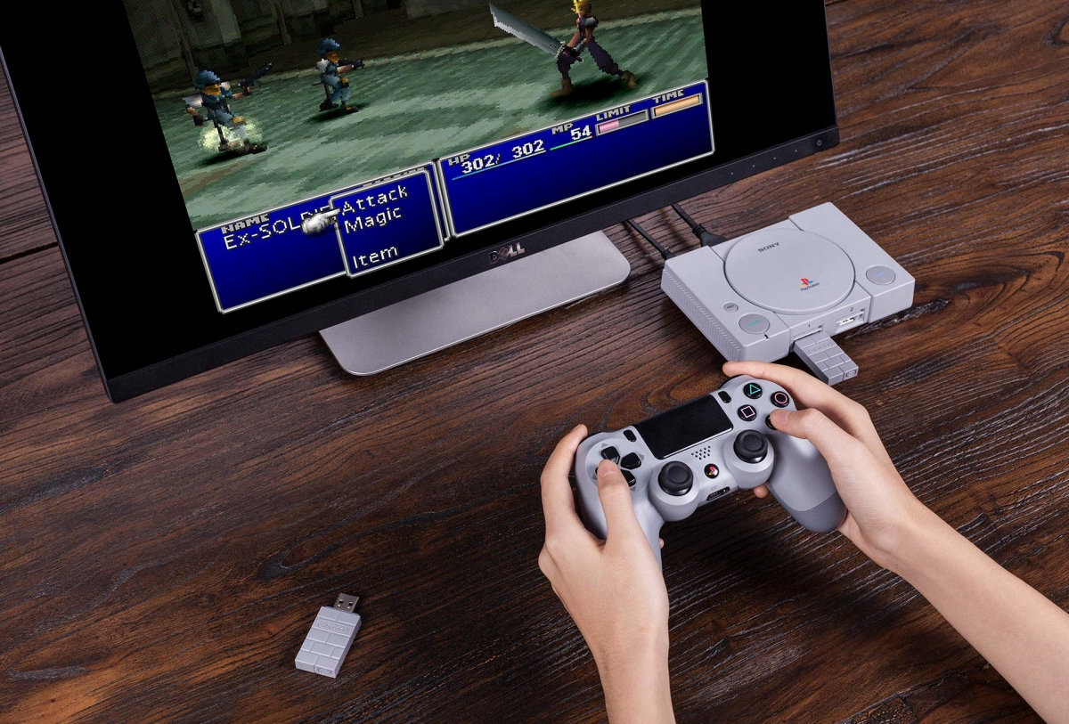 Add wireless controller support to your PlayStation Classic with 8BitDo's latest adapter