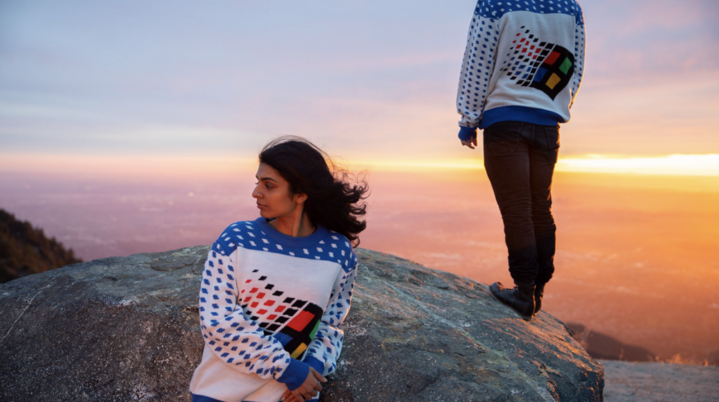 Win the holidays with Microsoft's ugly Christmas sweater