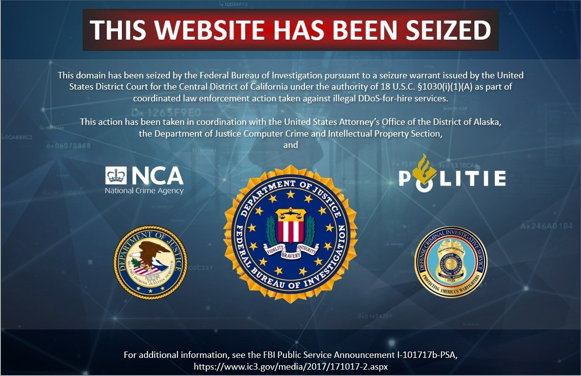FBI charges three in connection with DDoS-for-hire website seizures