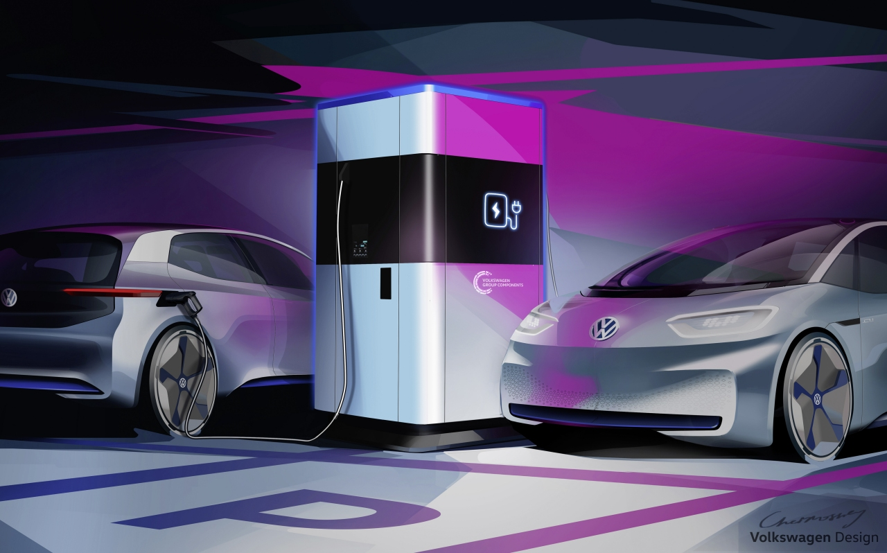 VW's mobile quick charging station is a juice pack for your EV