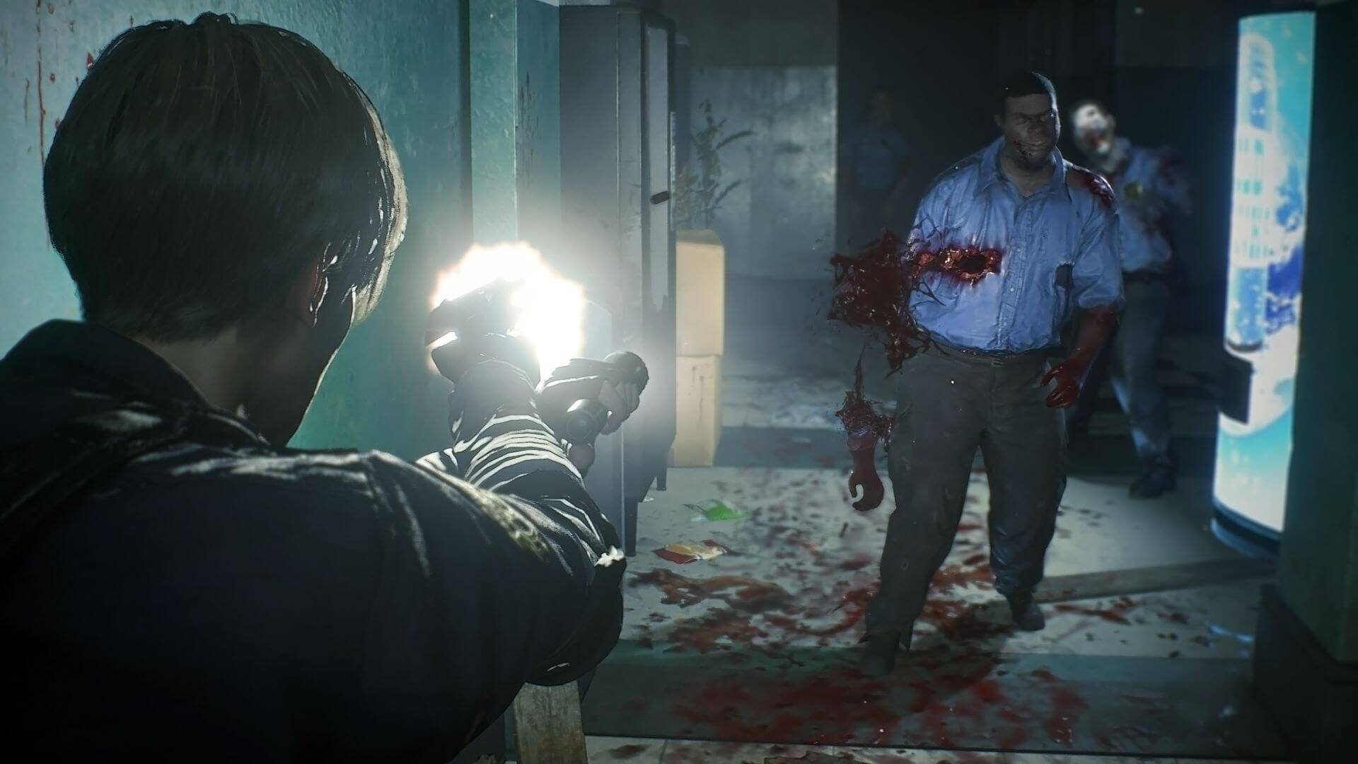 Image result for resident evil 2 remake shooting