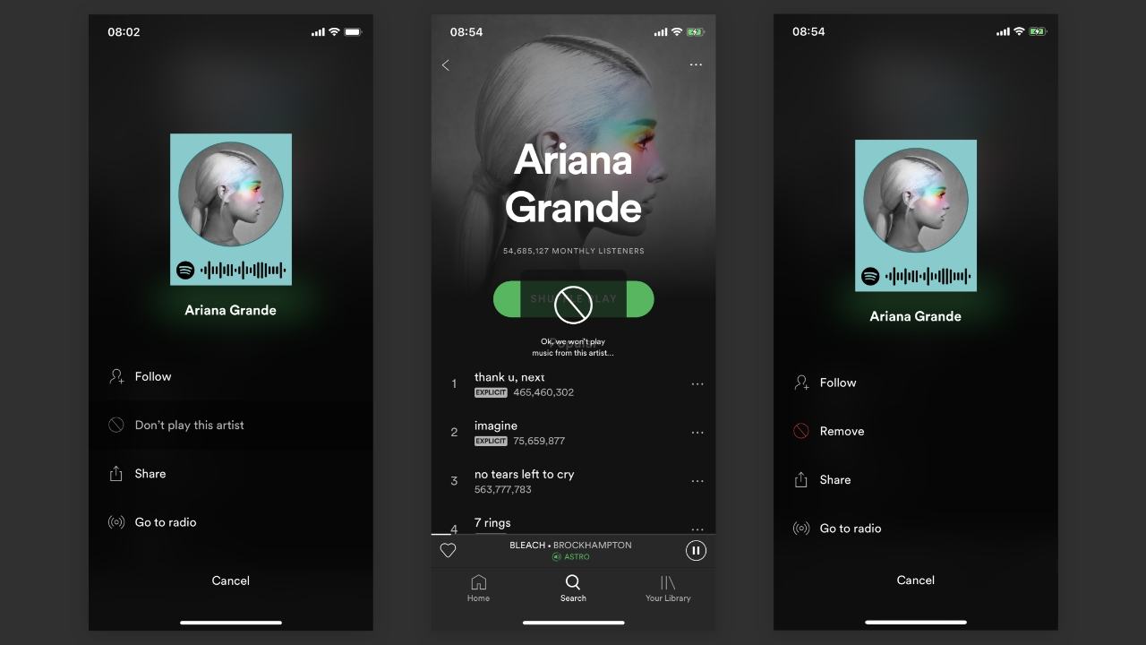Spotify will let users block artists they don't want to hear