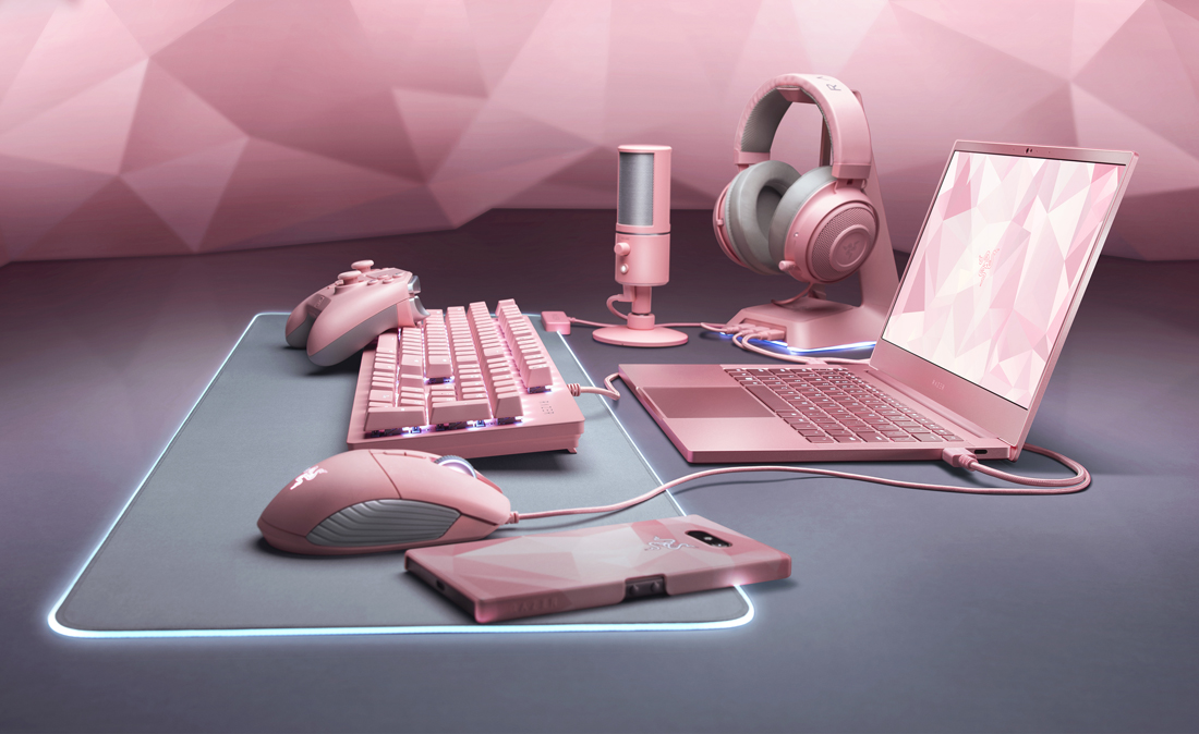 Razer hits its hardware with a splash of pink