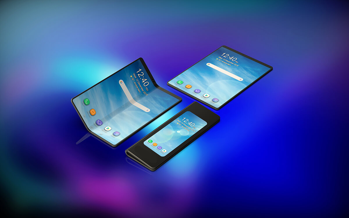 Samsung unveils Galaxy Fold phone, to be released in April