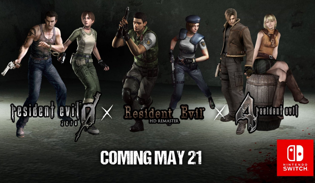 Resident Evil 1, 4, And 0 Are Coming To Switch