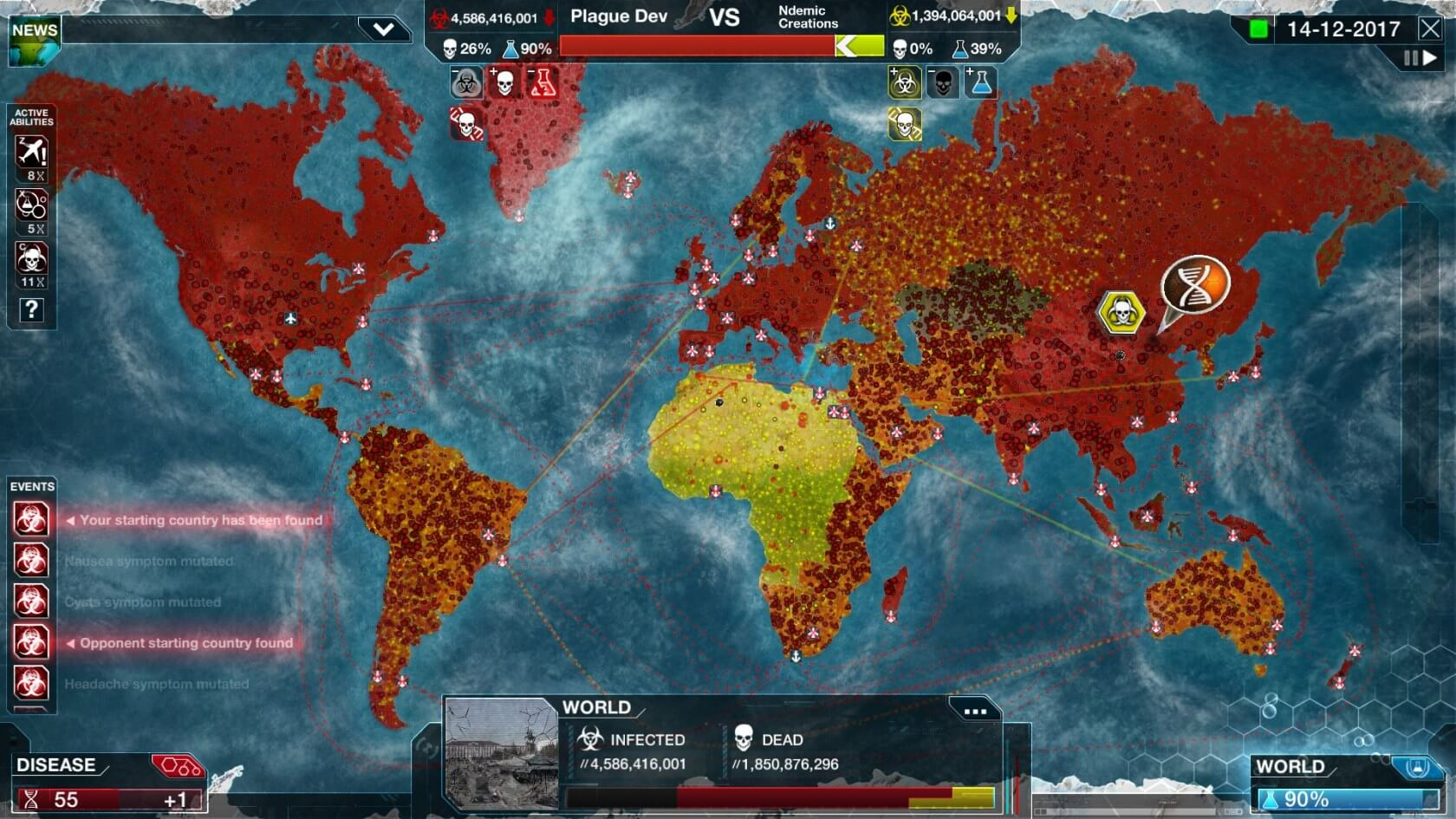 Plague Inc.'s new mode lets players save the world from a pandemic instead of destroying it