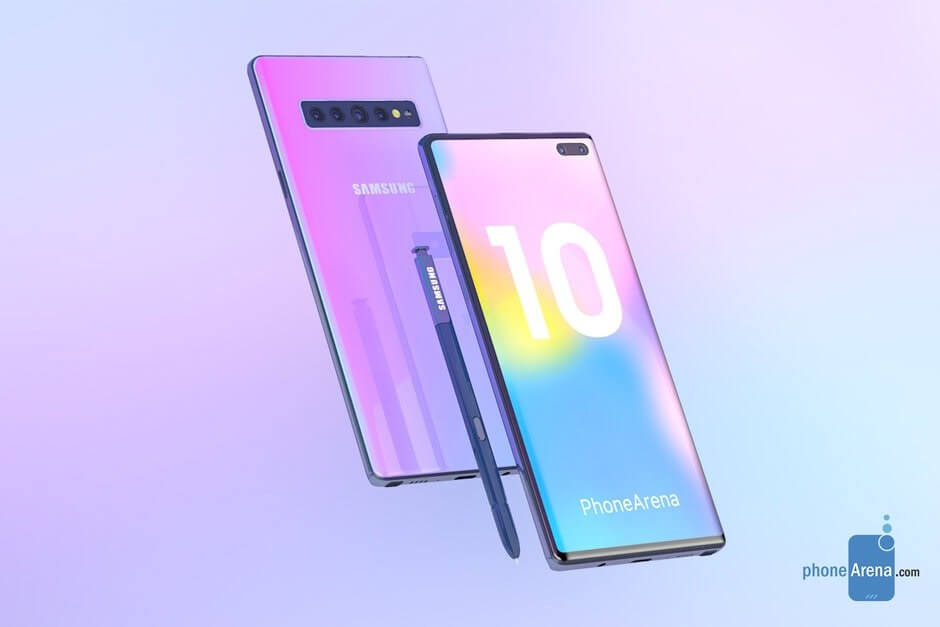 Renders show potential design of Galaxy Note 10