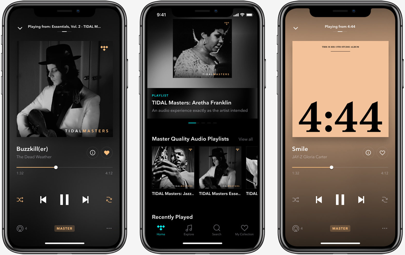 Tidal master-quality tracks are now available on iOS