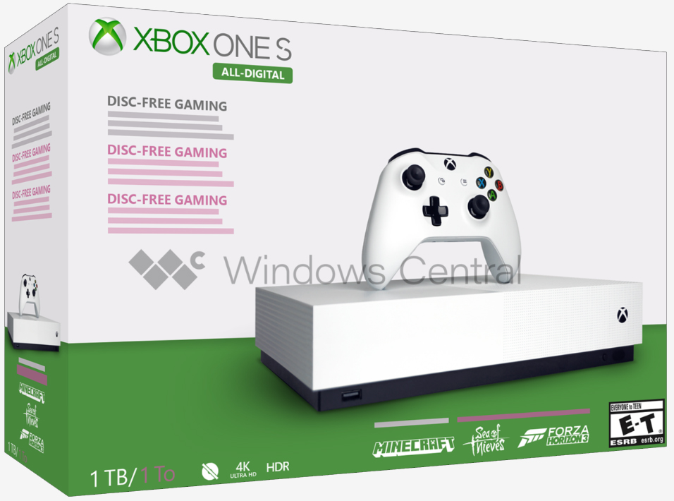 Additional details emerge regarding Microsoft's All-Digital Xbox One