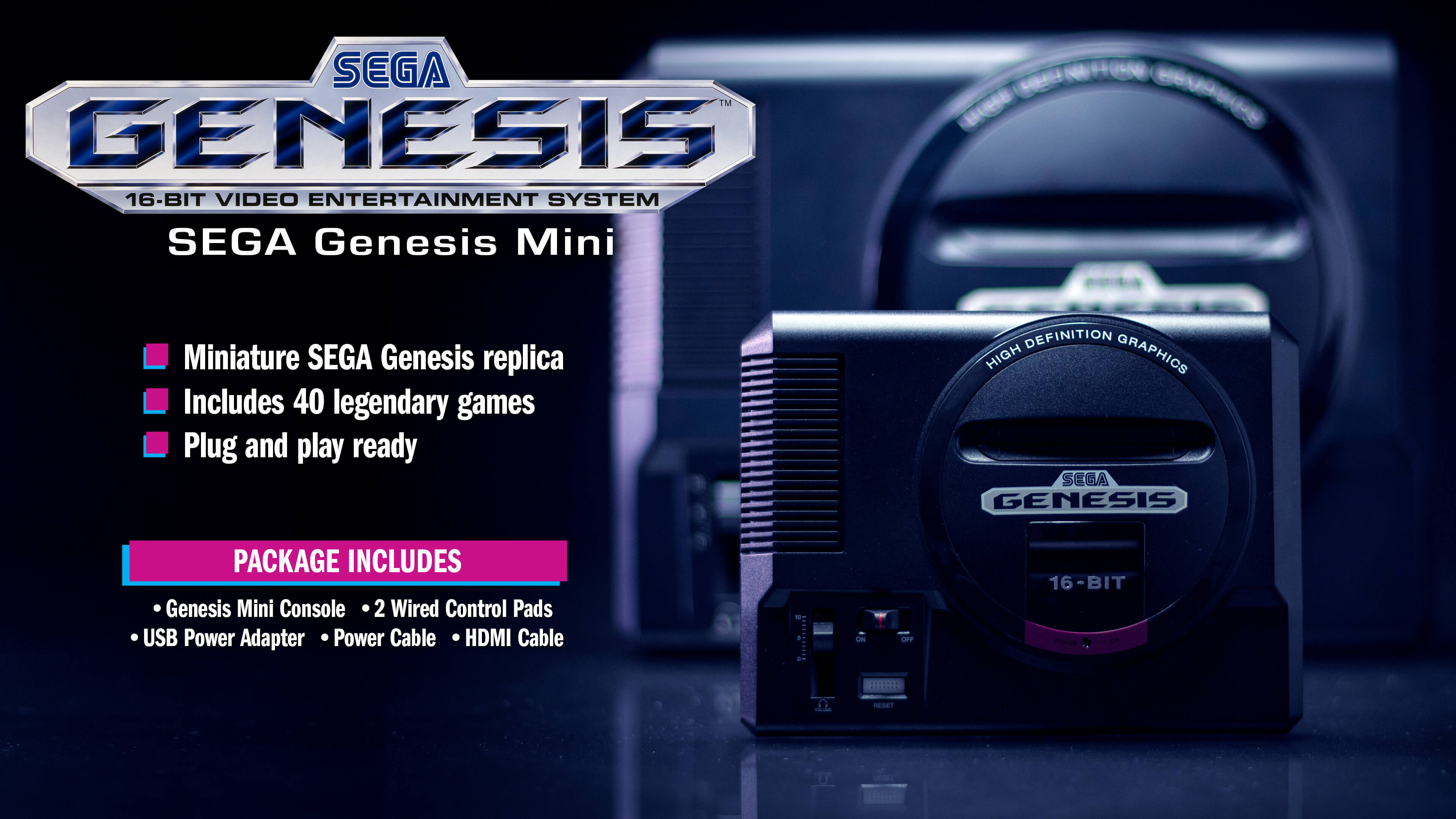 Sega's 'Sega Genesis Mini' Console Launches with 40 Games on September 19