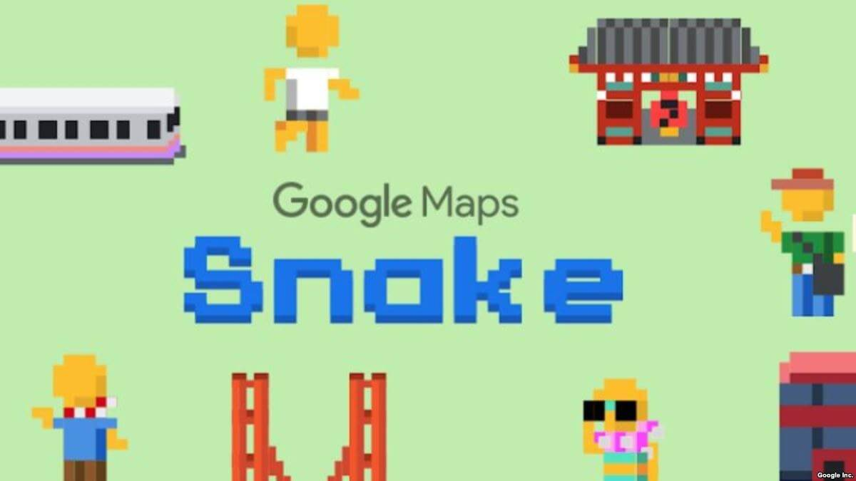Google brings Snake to its Maps app for April Fools' Day