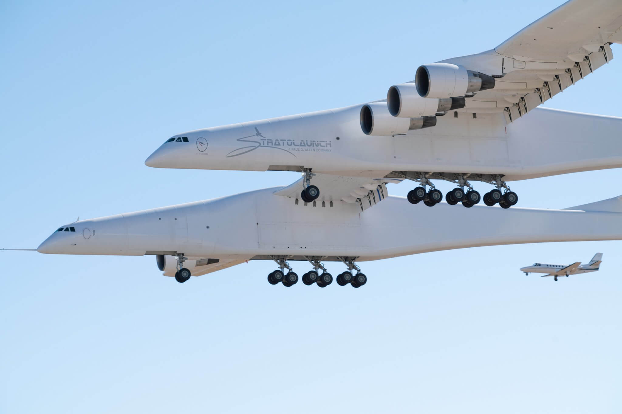 Stratolaunch First Flight takeoff