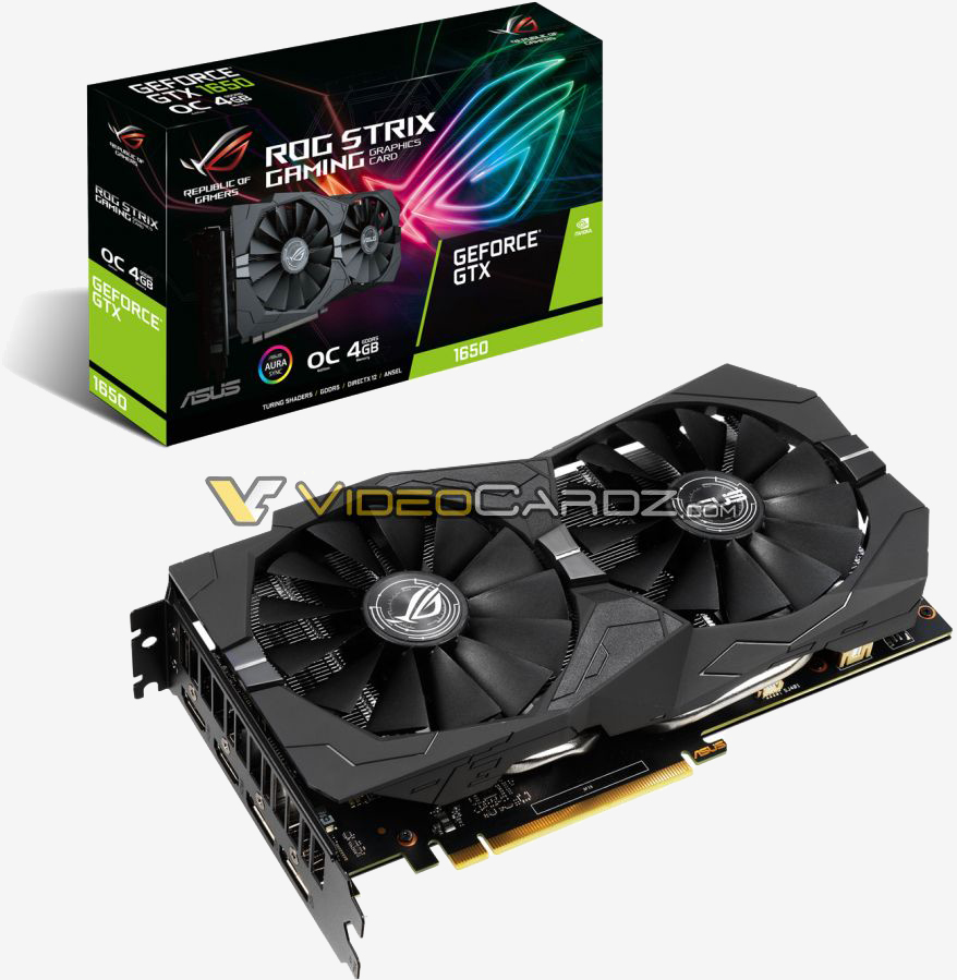 GeForce GTX 1650 cards from Asus, Gigabyte and MSI spied in leaked photos