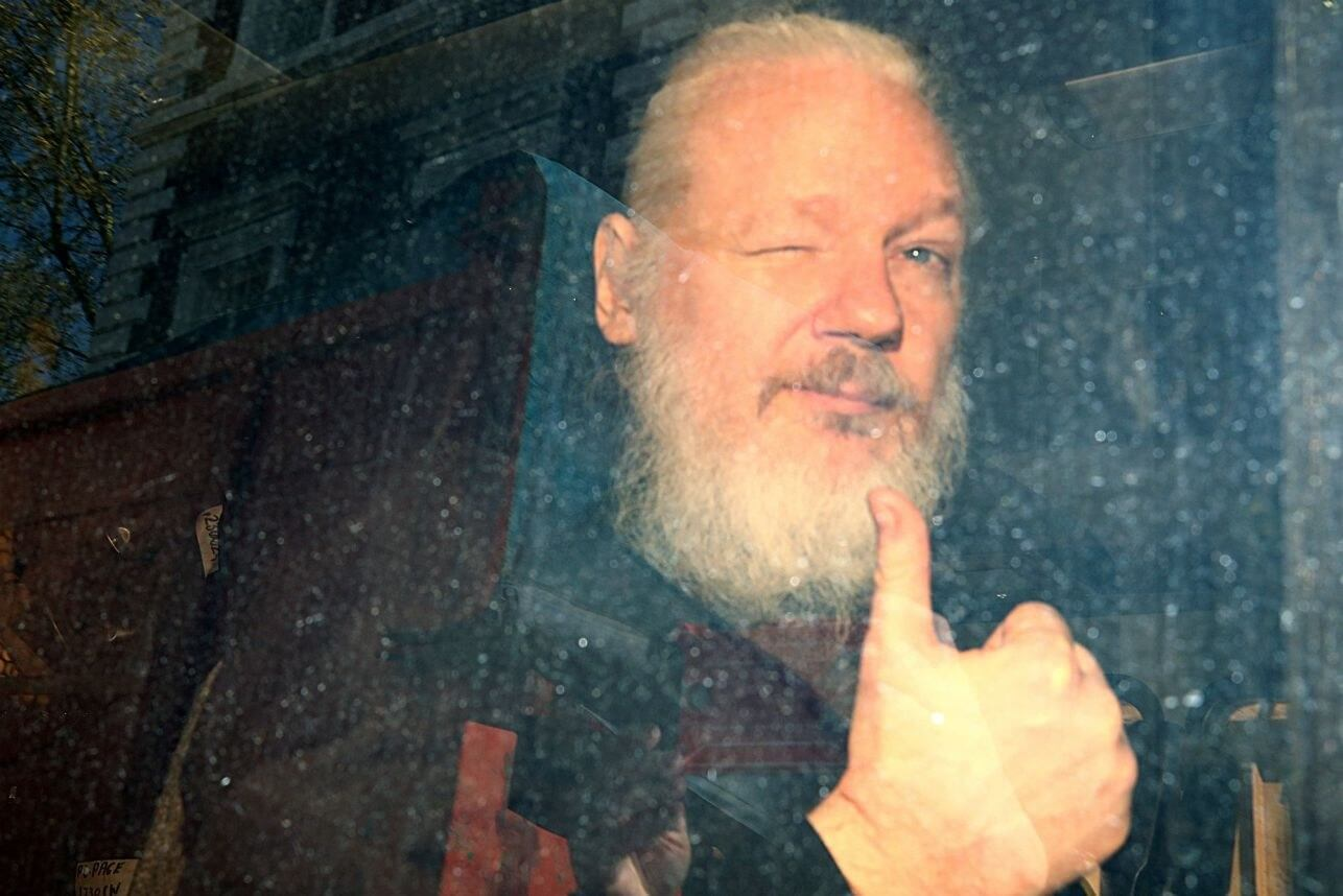 Julian Assange sentenced to 50 weeks in prison for skipping bail