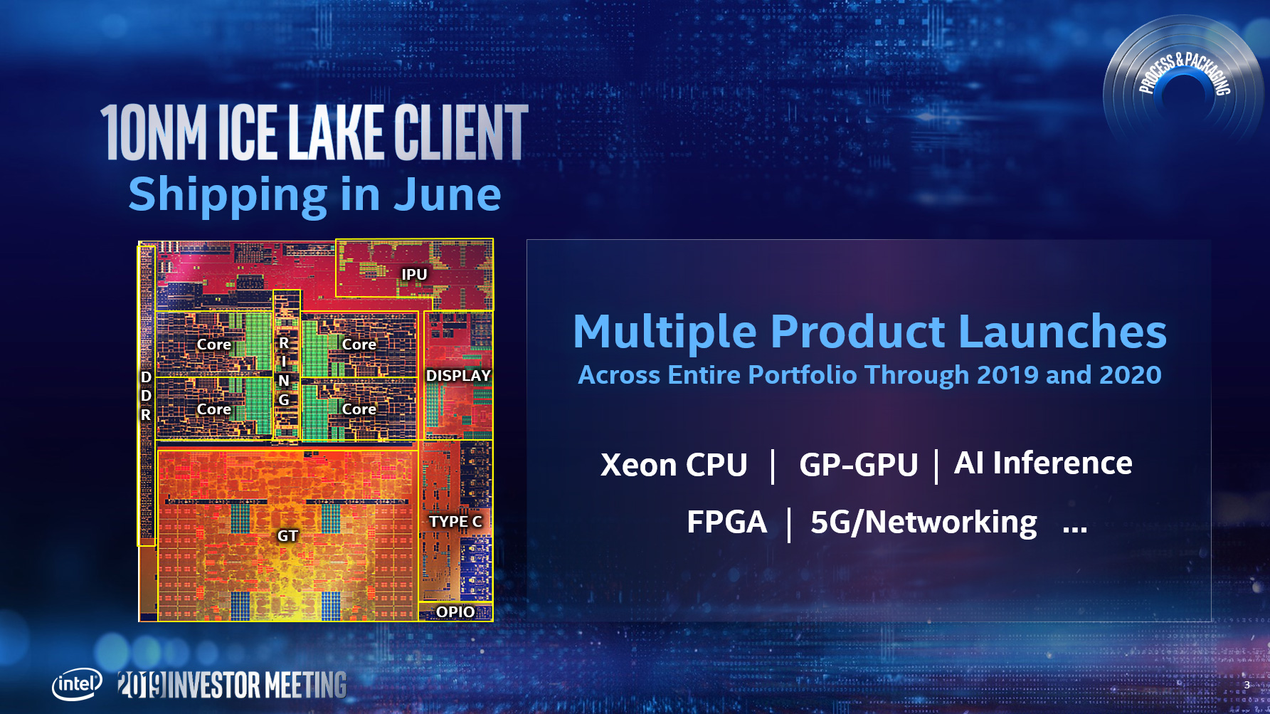 Intel to ship Ice Lake in June, launch first 7-nanometer parts in 2021