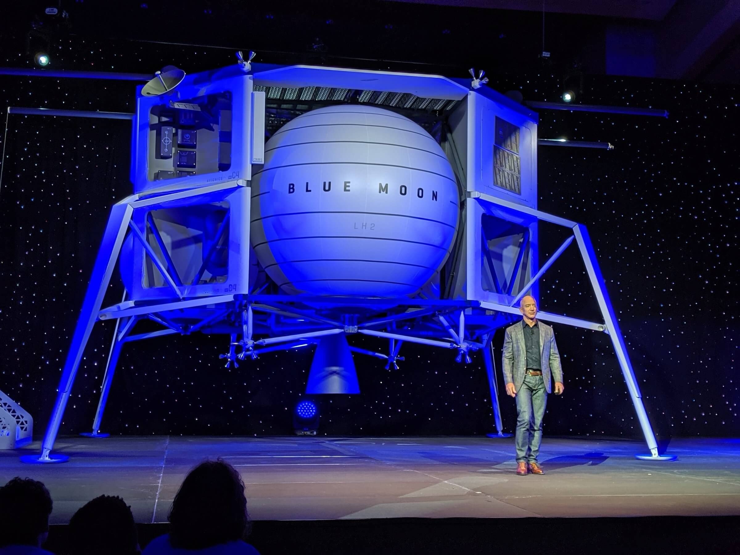 Jeff Bezos promises road to Moon.