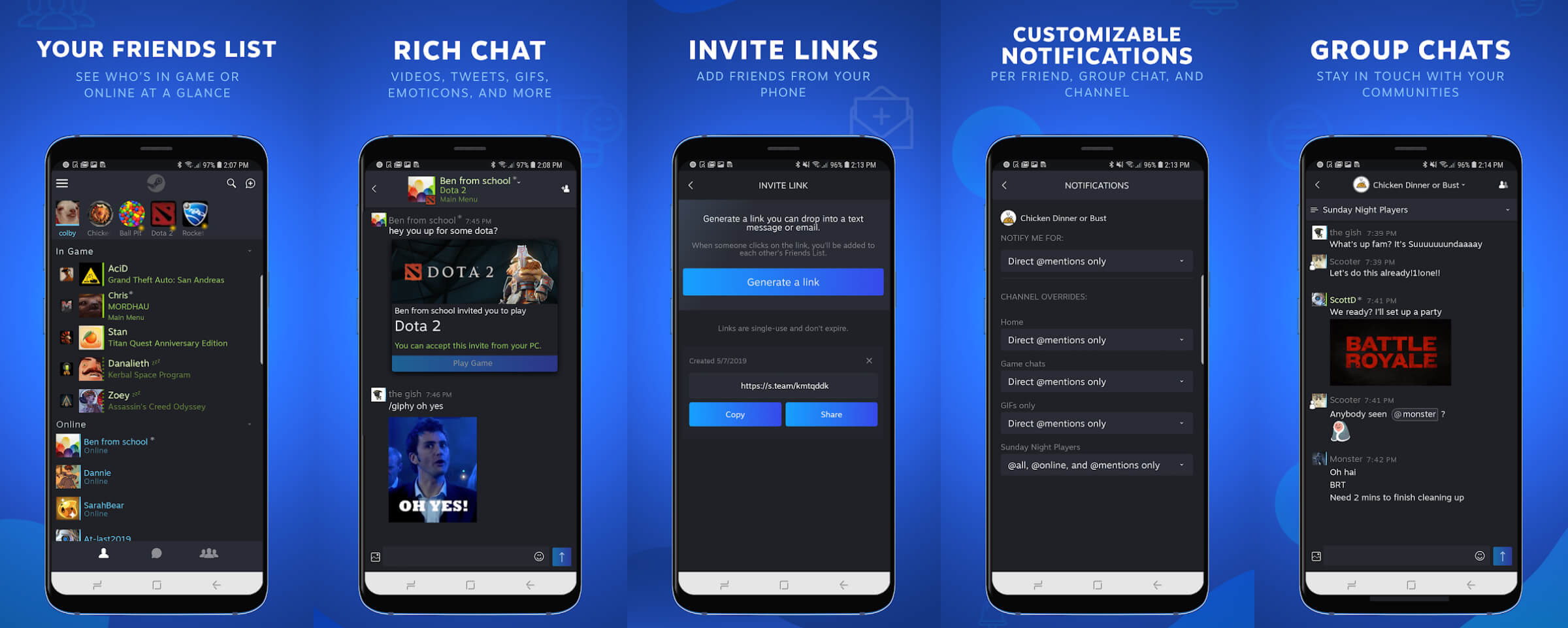 Steam Chat launches for iOS and Android