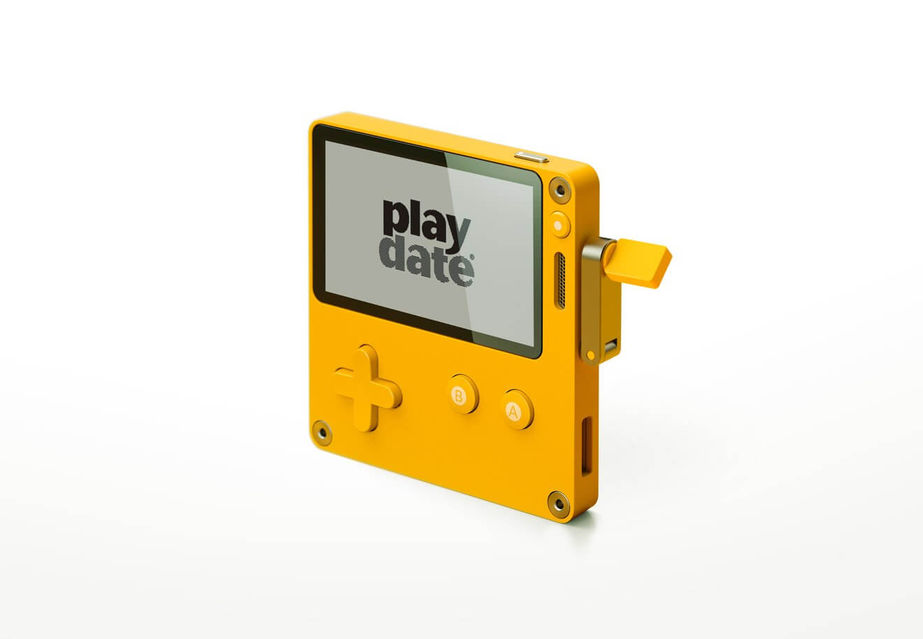 Check Out the Playdate, a Retro-style Handheld that Features a Crank Controller