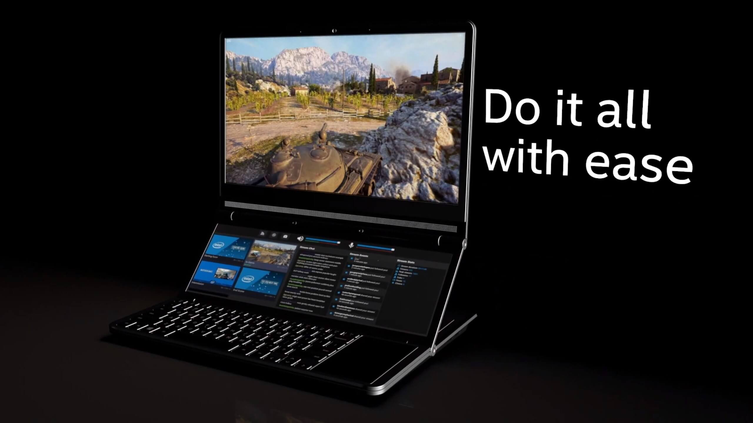Intel's dual-screen gaming laptop concept stands out from the pack