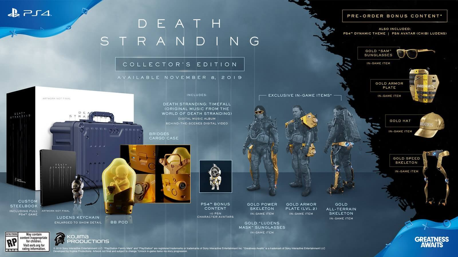 Death Stranding's Collector's Edition has been revealed, and it includes a pod with a baby inside