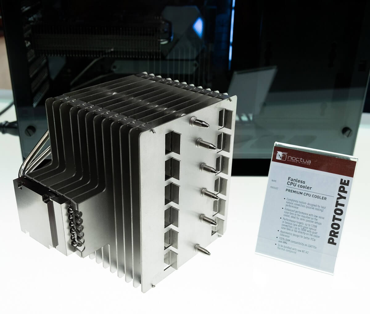 Noctua shows off 1.5kg fanless cooler that can handle high-end processors