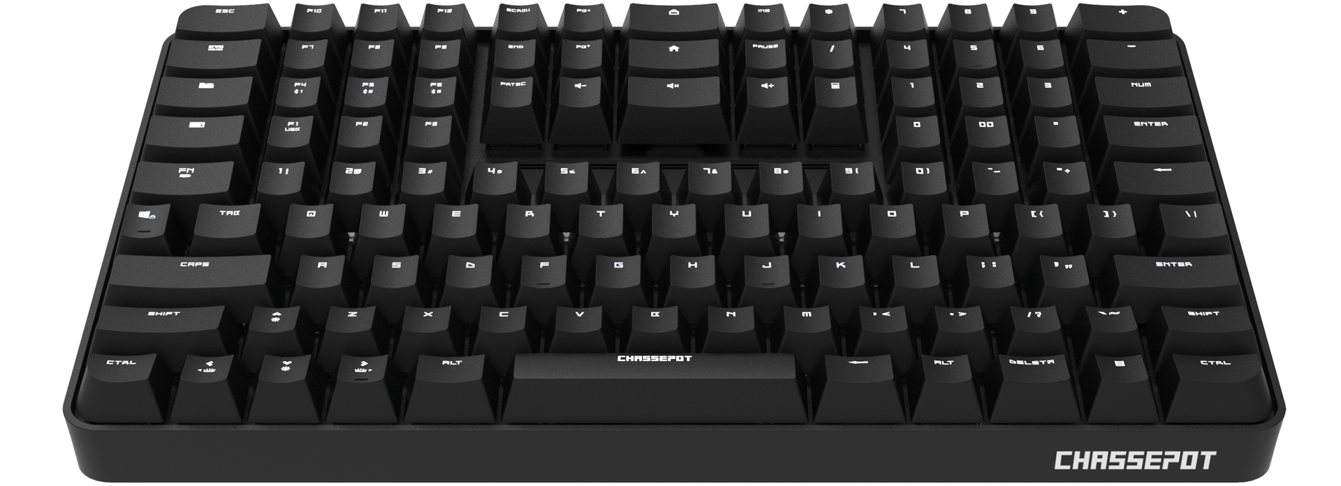 Narrow and tall: check out the C1000 keyboard that places the numpad on top